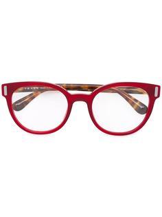 очки в полоску Prada Eyewear