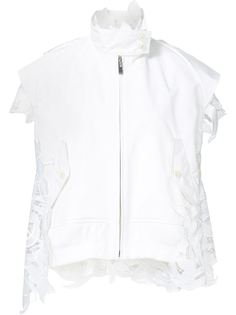 'Lily' lace sleeveless jacket Sacai