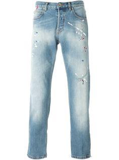 джинсы с брызгами краски Eleventy
