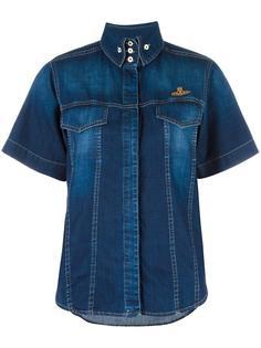 джинсовая рубашка с короткими рукавами Vivienne Westwood Anglomania