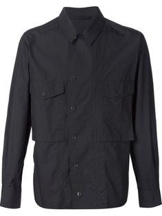 рубашка с карманами с клапанами Lemaire