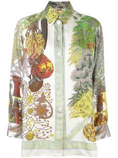 botanical print shirt Hermès Vintage