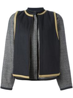 contrast layer jacket Versace Vintage