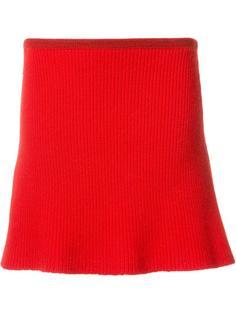 трикотажная юбка в рубчик The Elder Statesman