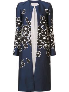 пальто с цветочным узором Carolina Herrera