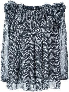 блузка с волнистым принтом и рюшами Steffen Schraut
