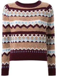 свитер с узором-интарсией Guild Prime
