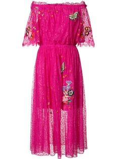 расклешенное платье с заплатками в виде бабочек Temperley London