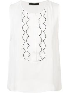 scalloped panel blouse Jenni Kayne