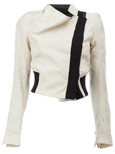 укороченная байкерская куртка Ann Demeulemeester