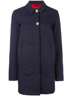 buttoned mid coat Woolrich