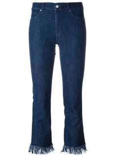 укороченные джинсы с необработанными краями 7 For All Mankind