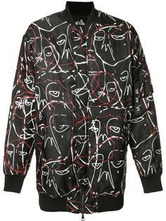 куртка-бомбер с абстрактным принтом Haculla