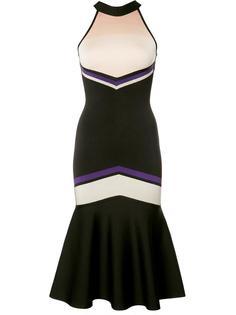 облегающее платье с расклешенным подолом David Koma