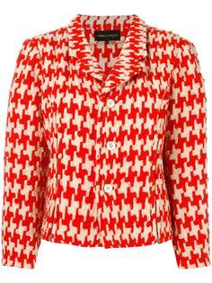 geometric woven jacket Comme Des Garçons Vintage