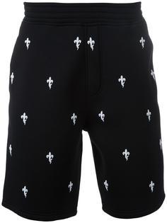 шорты с вышивкой королевской лилии Neil Barrett