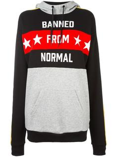 printed long length hoodie Adidas Originals