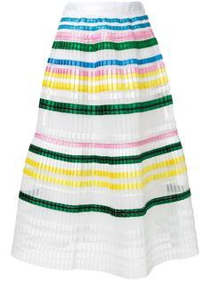 полосатая плиссированная юбка Muveil