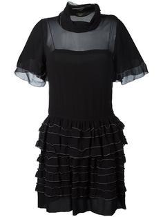 прозрачное платье с оборками Isabel Marant