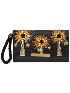 клатч с цветочным украшением Lizzie Fortunato Jewels