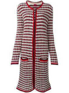 длинное трикотажное пальто Moncler Gamme Rouge