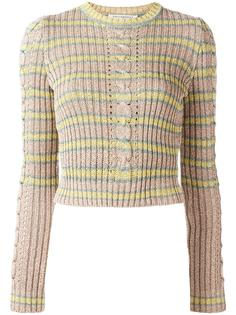 cable-knit lurex jumper  Philosophy Di Lorenzo Serafini