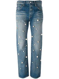 джинсы бойфренды с жемчужинами Tu Es Mon Tresor