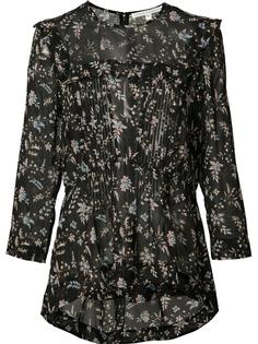 floral print sheer blouse Veronica Beard