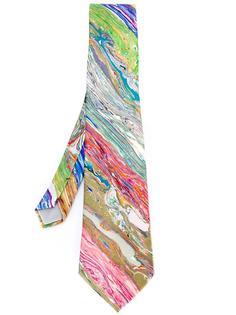 printed silk tie  Yohji Yamamoto Vintage