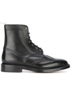ботинки в стиле милитари с перфорацией Thom Browne