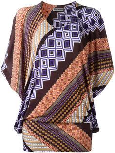 geometric print blouse Issey Miyake