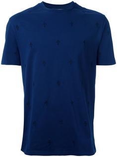 футболка с вышивкой королевской лилии Neil Barrett