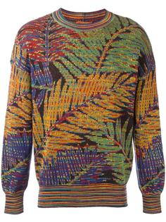 palm intarsia knit jumper Missoni Vintage