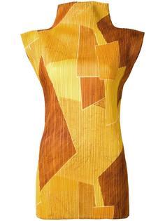 geometric pleated top Issey Miyake Vintage