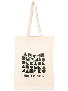 сумка-шоппер с геометрическим принтом Henrik Vibskov