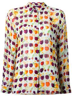 cherry print sheer shirt Versace Vintage