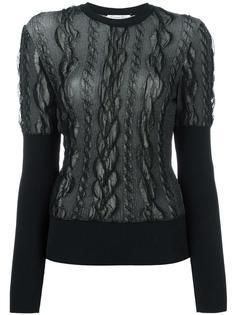 lace overlay jumper Christian Dior Vintage