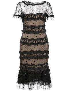 многослойное кружевное платье 'Trumpet' Carolina Herrera