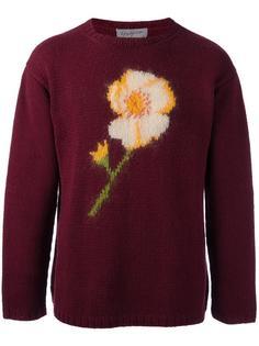 flower intarsia knit jumper Yohji Yamamoto Vintage