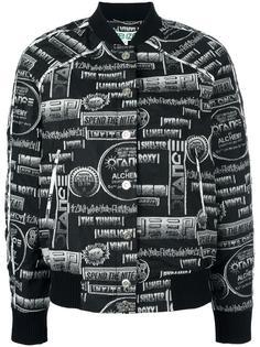 куртка-бомбер с принтом Kenzo