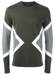 футболка с геометрическими панелями Neil Barrett