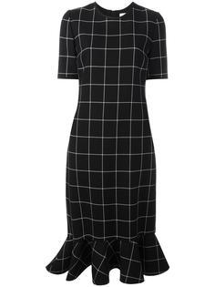платье в клетку с расклешенным подолом Victoria Victoria Beckham