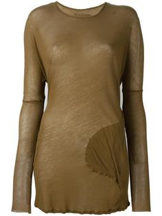 длинная блузка с круглыми карманами Kristensen Du Nord
