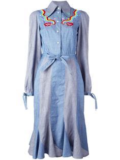 платье-рубашка с принтом губ и сигарет Olympia Le-Tan