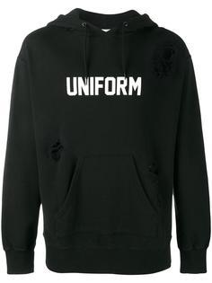 толстовка с капюшоном и логотипом Uniform Experiment