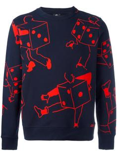 dice print sweatshirt Ps By Paul Smith