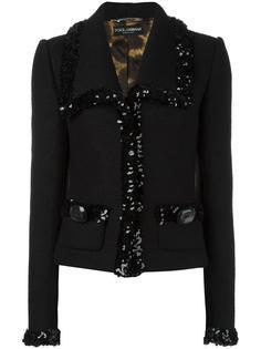 sequinned trim jacket Dolce & Gabbana Vintage