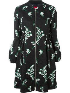 пальто с цветочной вышивкой  Moncler Gamme Rouge