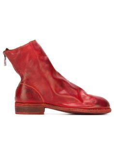 ботинки с потертым эффектом  Guidi