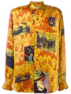 printed silk shirt  Yohji Yamamoto Vintage